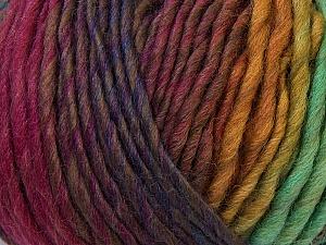 Fiber Content 60% Wool, 40% Acrylic, Purple, Pink, Brand Ice Yarns, Green Shades, Camel, Yarn Thickness 4 Medium  Worsted, Afghan, Aran, fnt2-34606