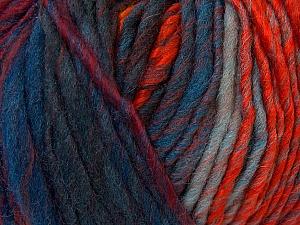 Fiber Content 60% Wool, 40% Acrylic, Orange, Brand Ice Yarns, Green Shades, Gold, Blue Shades, Yarn Thickness 4 Medium  Worsted, Afghan, Aran, fnt2-34611