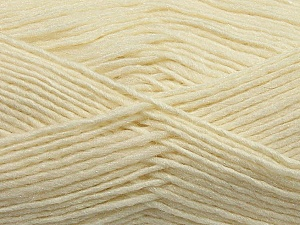 Fiber Content 50% Wool, 50% Acrylic, Brand Ice Yarns, Cream, Yarn Thickness 3 Light  DK, Light, Worsted, fnt2-35022