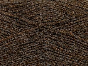Fiber Content 50% Wool, 50% Acrylic, Brand Ice Yarns, Brown Melange, Yarn Thickness 3 Light  DK, Light, Worsted, fnt2-35025