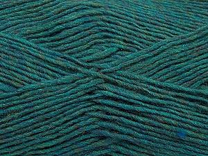 Fiber Content 50% Acrylic, 50% Wool, Teal Melange, Brand ICE, Yarn Thickness 3 Light  DK, Light, Worsted, fnt2-35027