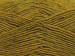 Fiber Content 50% Acrylic, 50% Wool, Olive Green Melange, Brand Ice Yarns, Yarn Thickness 3 Light  DK, Light, Worsted, fnt2-35030