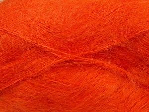 Fiber Content 70% Mohair, 30% Acrylic, Orange, Brand Ice Yarns, Yarn Thickness 3 Light  DK, Light, Worsted, fnt2-35051