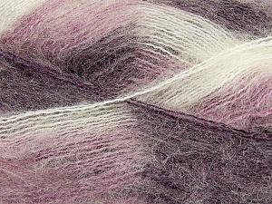 Fiber Content 70% Mohair, 30% Acrylic, White, Purple, Lilac, Brand Ice Yarns, Yarn Thickness 3 Light  DK, Light, Worsted, fnt2-35071