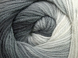 Fiber Content 100% Acrylic, White, Brand Ice Yarns, Grey Shades, Yarn Thickness 3 Light  DK, Light, Worsted, fnt2-35639