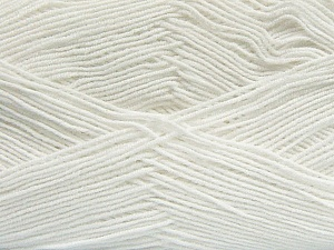 Fiber Content 55% Cotton, 45% Acrylic, White, Brand Ice Yarns, Yarn Thickness 1 SuperFine  Sock, Fingering, Baby, fnt2-38662