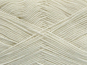 Fiber Content 55% Cotton, 45% Acrylic, Off White, Brand Ice Yarns, Yarn Thickness 1 SuperFine  Sock, Fingering, Baby, fnt2-38663