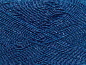 Fiber Content 55% Cotton, 45% Acrylic, Brand Ice Yarns, Blue, Yarn Thickness 1 SuperFine  Sock, Fingering, Baby, fnt2-38680