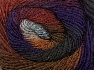 Fiber Content 50% Acrylic, 50% Wool, Purple, Brand Ice Yarns, Grey Shades, Brown Shades, Yarn Thickness 2 Fine  Sport, Baby, fnt2-40630
