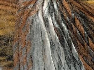 Fiber Content 60% Wool, 40% Acrylic, Brand Ice Yarns, Grey Shades, Brown Shades, Yarn Thickness 4 Medium  Worsted, Afghan, Aran, fnt2-40664