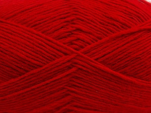Fiber Content 50% Wool, 50% Acrylic, Red, Brand Ice Yarns, Yarn Thickness 3 Light  DK, Light, Worsted, fnt2-40810