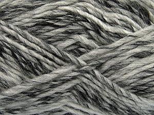 Fiber Content 75% Acrylic, 25% Wool, White, Brand Ice Yarns, Grey Shades, Yarn Thickness 5 Bulky  Chunky, Craft, Rug, fnt2-40812