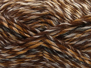 Fiber Content 75% Acrylic, 25% Wool, Brand Ice Yarns, Brown Shades, Yarn Thickness 5 Bulky  Chunky, Craft, Rug, fnt2-40813