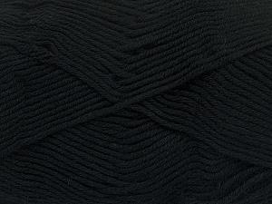 Fiber Content 50% Bamboo, 50% Cotton, Brand Ice Yarns, Black, Yarn Thickness 2 Fine  Sport, Baby, fnt2-41437