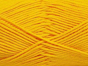Fiber Content 50% Bamboo, 50% Cotton, Yellow, Brand Ice Yarns, Yarn Thickness 2 Fine  Sport, Baby, fnt2-41444