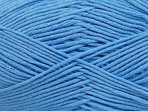 Fiber Content 50% Bamboo, 50% Cotton, Light Blue, Brand Ice Yarns, Yarn Thickness 2 Fine  Sport, Baby, fnt2-41448