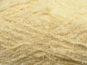 Fiber Content 100% Micro Fiber, Light Yellow, Brand Ice Yarns, Yarn Thickness 5 Bulky  Chunky, Craft, Rug, fnt2-41758