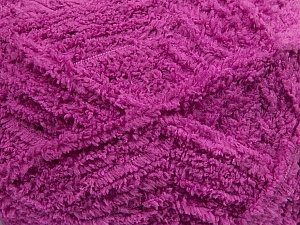 Fiber Content 100% Micro Fiber, Brand Ice Yarns, Dark Orchid, Yarn Thickness 5 Bulky  Chunky, Craft, Rug, fnt2-41768