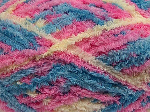 Fiber Content 100% Micro Fiber, Pink, Brand Ice Yarns, Cream, Blue, Yarn Thickness 5 Bulky  Chunky, Craft, Rug, fnt2-41773