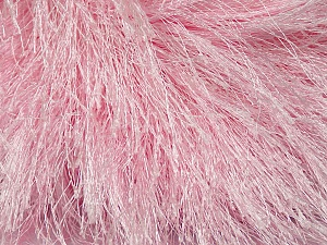 Fiber Content 100% Polyester, Brand Ice Yarns, Baby Pink, Yarn Thickness 6 SuperBulky  Bulky, Roving, fnt2-42077