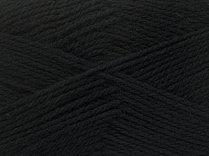 Fiber Content 100% Virgin Wool, Brand Ice Yarns, Black, Yarn Thickness 3 Light  DK, Light, Worsted, fnt2-42303