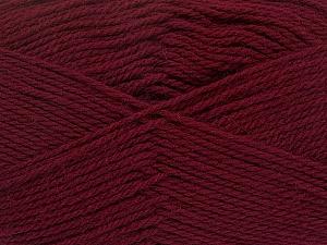 Fiber Content 100% Virgin Wool, Brand Ice Yarns, Burgundy, Yarn Thickness 3 Light  DK, Light, Worsted, fnt2-42309