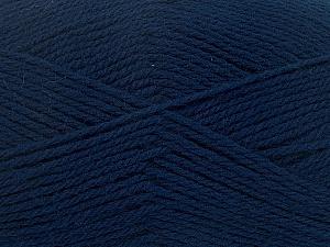 Fiber Content 100% Virgin Wool, Navy, Brand Ice Yarns, Yarn Thickness 3 Light  DK, Light, Worsted, fnt2-42310
