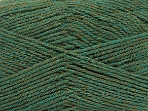 Fiber Content 100% Virgin Wool, Khaki Melange, Brand Ice Yarns, Yarn Thickness 3 Light  DK, Light, Worsted, fnt2-42313