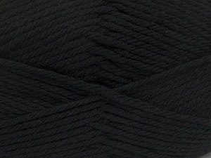 Fiber Content 50% Acrylic, 50% Polyamide, Brand Ice Yarns, Black, Yarn Thickness 3 Light  DK, Light, Worsted, fnt2-42368