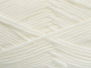 Fiber Content 50% Acrylic, 50% Polyamide, White, Brand Ice Yarns, Yarn Thickness 3 Light  DK, Light, Worsted, fnt2-42370