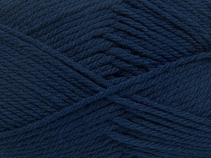 Fiber Content 50% Acrylic, 50% Polyamide, Navy, Brand Ice Yarns, Yarn Thickness 3 Light  DK, Light, Worsted, fnt2-42373