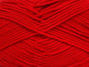 Fiber Content 50% Acrylic, 50% Polyamide, Tomato Red, Brand Ice Yarns, Yarn Thickness 3 Light  DK, Light, Worsted, fnt2-42378