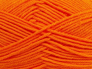 Fiber Content 50% Polyamide, 50% Acrylic, Orange, Brand Ice Yarns, Yarn Thickness 3 Light  DK, Light, Worsted, fnt2-42379