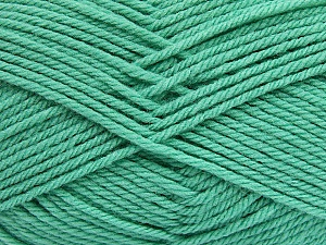 Fiber Content 50% Polyamide, 50% Acrylic, Mint Green, Brand Ice Yarns, Yarn Thickness 3 Light  DK, Light, Worsted, fnt2-42381