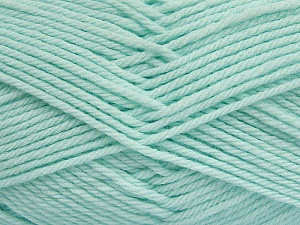 Fiber Content 50% Polyamide, 50% Acrylic, Light Mint Green, Brand Ice Yarns, Yarn Thickness 3 Light  DK, Light, Worsted, fnt2-42385