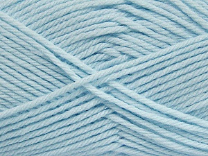 Fiber Content 50% Polyamide, 50% Acrylic, Brand Ice Yarns, Baby Blue, Yarn Thickness 3 Light  DK, Light, Worsted, fnt2-42386