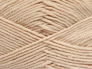 Fiber Content 50% Acrylic, 50% Polyamide, Light Beige, Brand Ice Yarns, Yarn Thickness 3 Light  DK, Light, Worsted, fnt2-42388
