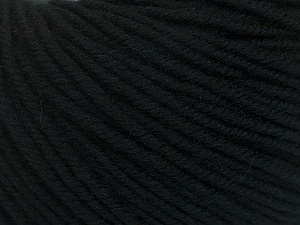 SUPERWASH MERINO is a worsted weight 100% superwash merino yarn available in 47 beautiful colors. Marvelous hand, perfect stitch definition, and a soft-but-sturdy finished fabric. Projects knit and crocheted in SUPERWASH MERINO are machine washable! Lay flat to dry. Fiber Content 100% Superwash Merino Wool, Brand ICE, Black, Yarn Thickness 4 Medium  Worsted, Afghan, Aran, fnt2-42445