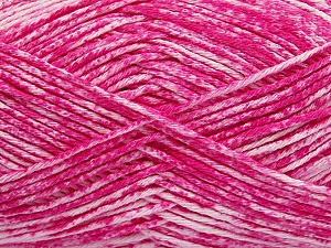 Strong pure cotton yarn in beautiful colours, reminiscent of bleached denim. Machine washable and dryable. Fiber Content 100% Cotton, White, Brand Ice Yarns, Candy Pink, Yarn Thickness 3 Light  DK, Light, Worsted, fnt2-42567