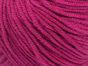 Fiber Content 50% Acrylic, 50% Cotton, Brand Ice Yarns, Dark Fuchsia, Yarn Thickness 3 Light  DK, Light, Worsted, fnt2-43069