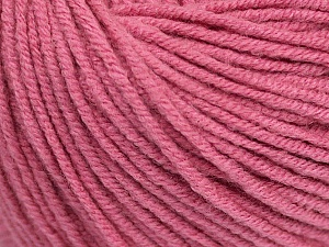 Fiber Content 50% Acrylic, 50% Cotton, Rose Pink, Brand Ice Yarns, Yarn Thickness 3 Light  DK, Light, Worsted, fnt2-43070