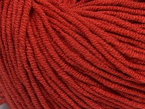 Fiber Content 50% Acrylic, 50% Cotton, Marsala Red, Brand Ice Yarns, Yarn Thickness 3 Light  DK, Light, Worsted, fnt2-43833