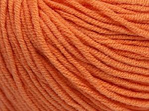 Fiber Content 50% Acrylic, 50% Cotton, Light Orange, Brand Ice Yarns, Yarn Thickness 3 Light  DK, Light, Worsted, fnt2-43834