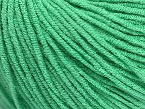 Fiber Content 50% Cotton, 50% Acrylic, Brand Ice Yarns, Emerald Green, Yarn Thickness 3 Light  DK, Light, Worsted, fnt2-43837