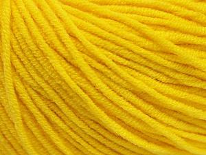 Fiber Content 50% Acrylic, 50% Cotton, Yellow, Brand Ice Yarns, Yarn Thickness 3 Light  DK, Light, Worsted, fnt2-43861