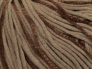 Fiber Content 79% Cotton, 21% Viscose, Brand Ice Yarns, Brown, Yarn Thickness 3 Light  DK, Light, Worsted, fnt2-45187