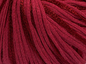 Fiber Content 79% Cotton, 21% Viscose, Brand Ice Yarns, Burgundy, Yarn Thickness 3 Light  DK, Light, Worsted, fnt2-45188