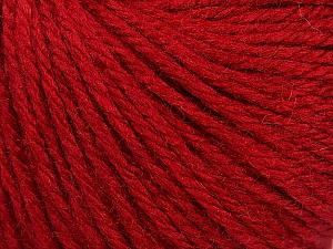 Fiber Content 40% Acrylic, 40% Merino Wool, 20% Polyamide, Brand Ice Yarns, Dark Red, Yarn Thickness 3 Light  DK, Light, Worsted, fnt2-45809