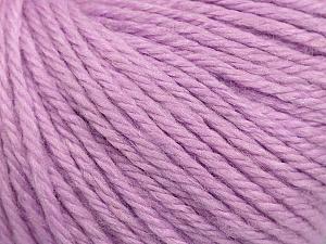 Fiber Content 40% Merino Wool, 40% Acrylic, 20% Polyamide, Light Lilac, Brand Ice Yarns, Yarn Thickness 3 Light  DK, Light, Worsted, fnt2-45825