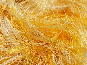 Fiber Content 100% Polyester, Yellow, White, Brand Ice Yarns, Yarn Thickness 6 SuperBulky  Bulky, Roving, fnt2-46452